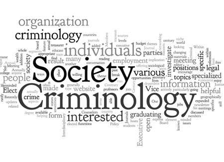 American Society of Criminology, typography text art vector illustration