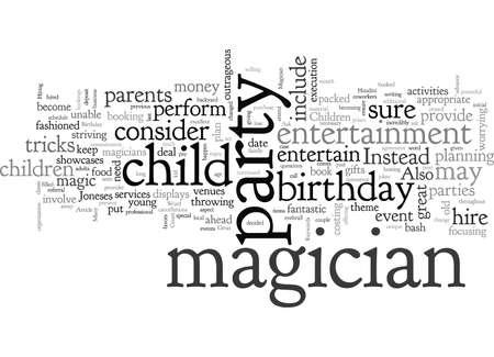 Abracadabra, typography text art vector illustration