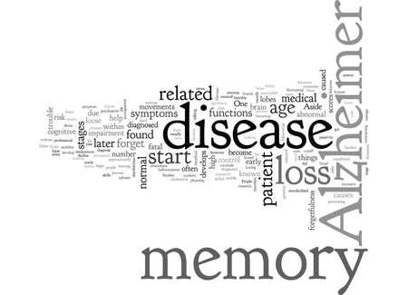perdita di memoria di alzheimer, tipografia testo arte illustrazione vettoriale