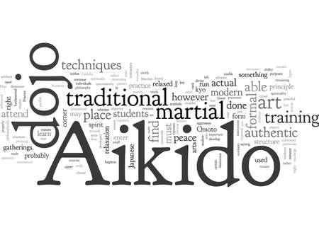 aikido dojo, typography text art vector illustration