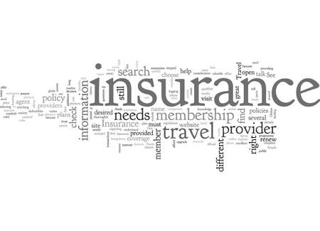 travel insurance, typography text art vector illustration