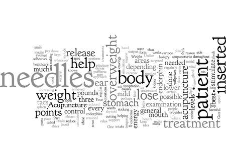 Acupuncture and Weight Loss, typography text art vector illustration