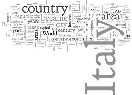 Italy, typography text art vector illustration
