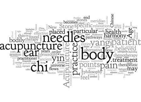 Acupuncture, typography text art vector illustration