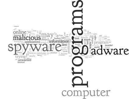 anti spyware adware, typography text art vector illustration Illustration