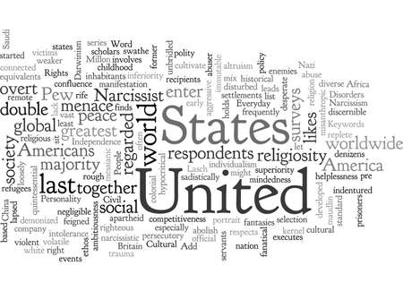 America, typography text art vector illustration