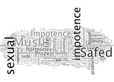 About Impotence, typography text art vector illustration