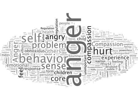 Anger and Health, typography text art vector illustration