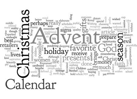 Advent, typography text art vector illustration