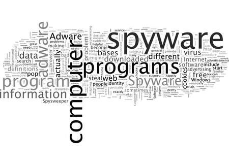 Adware Spyware, typography text art vector illustration