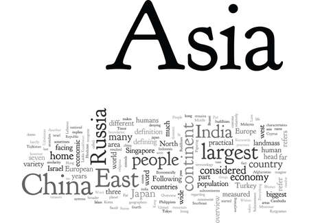 An Overview of Asia, typography text art vector illustration Illustration