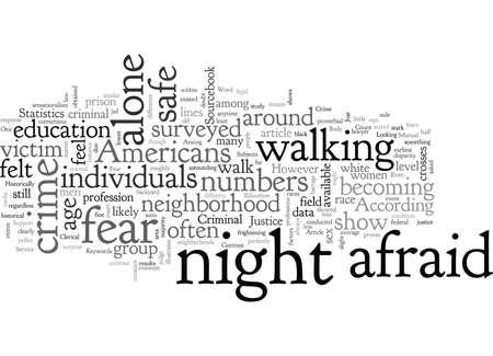 Americans Fear Crime, typography text art vector illustration 矢量图像