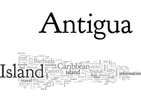Antigua Island, typography text art vector illustration Vecteurs