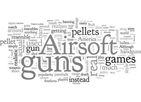 Airsoft Guns, typography text art vector illustration