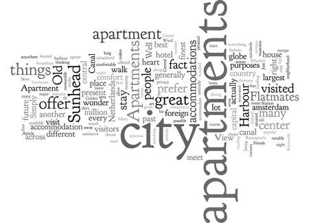 Amsterdam Apartments, typography text art vector illustration