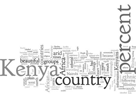 An Overview of Kenya for Travelers, typography text art vector illustration