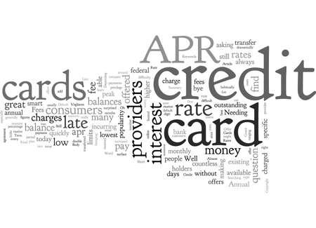 APR Credit Cards, typography text art vector illustration Vektorgrafik
