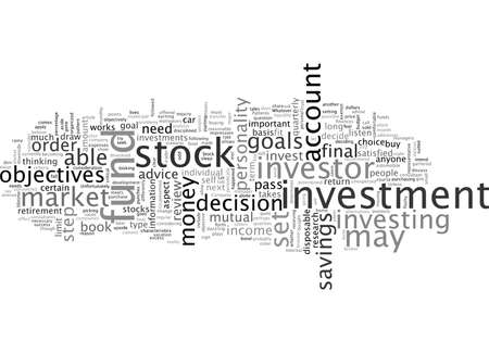 stock investor, typography text art vector illustration