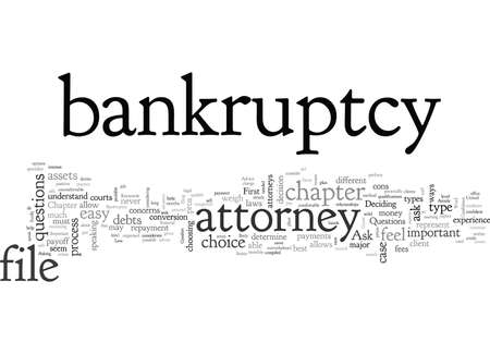 Advice About Bankruptcy, typography text art vector illustration