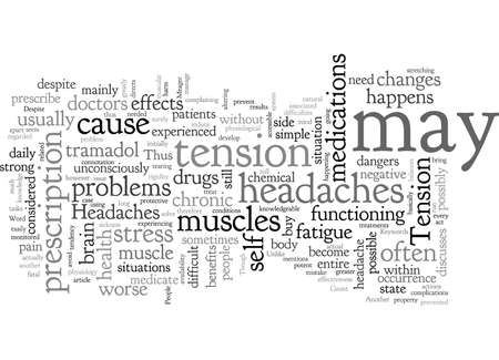 A Simple Case Of Chronic Headaches, typography text art vector illustration Çizim
