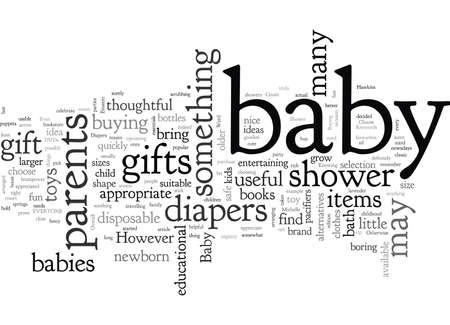 Appropriate Gifts For A Baby, typography text art vector illustration
