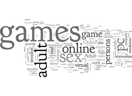 adult pc games, typography text art vector illustration