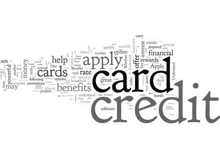 Credit Card, typography text art vector illustration Illustration