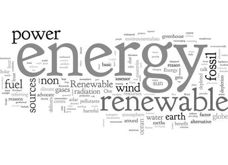 Solar Energy, typography text art vector illustration
