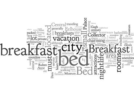 Bed And Breakfast, typography text art vector illustration 일러스트
