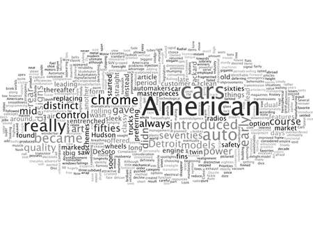 American Classic Cars, typography text art vector illustration 일러스트