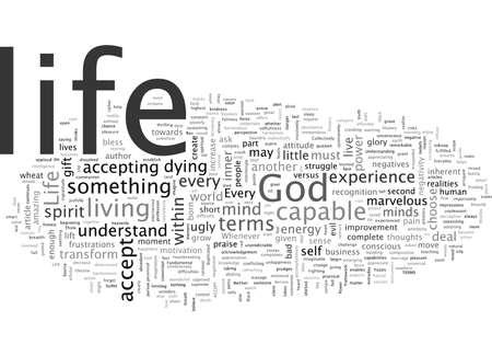 LIFE, typography text art vector illustration Vector Illustration