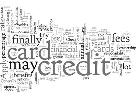 Apply For A Credit Card, typography text art vector illustration