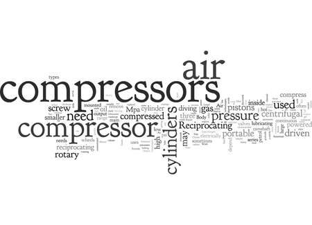 Air Compressors, typography text art vector illustration  イラスト・ベクター素材