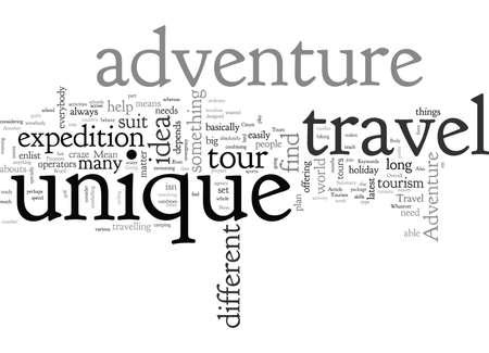 Adventure Tourism, typography text art vector illustration