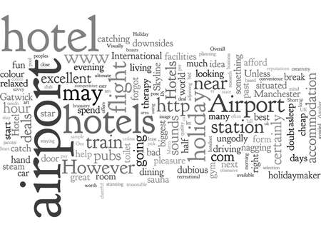 Airport Hotels, typography text art vector illustration
