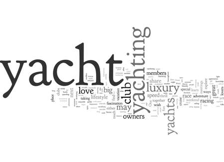A Society of Yacht Lovers, typography text art vector illustration
