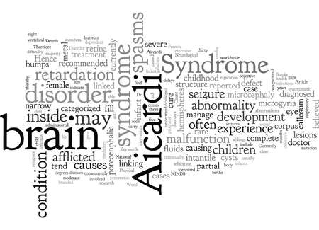 Aicardi Syndrome, typography text art vector illustration