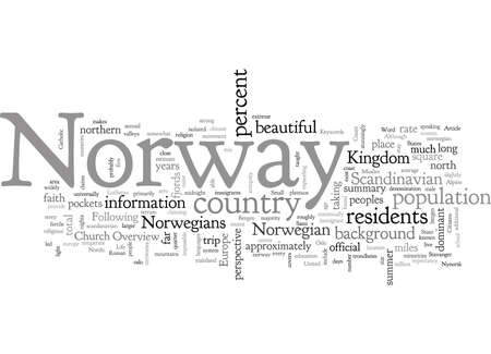 An Overview of Norway for Travelers, typography text art vector illustration