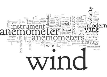 Anemometro, tipografia testo arte illustrazione vettoriale