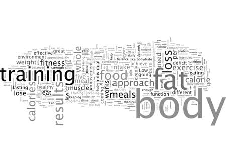 Fat Loss, typography text art vector illustration 일러스트