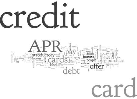 Apr Credit Cards, typography text art vector illustration
