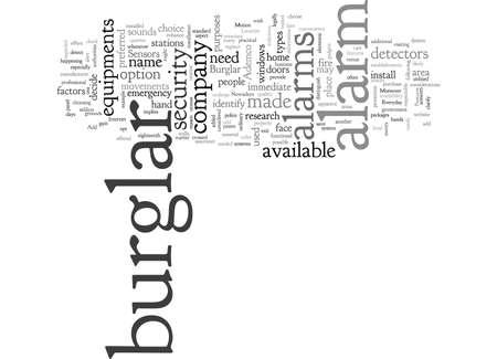 burglar alarm, typography text art vector illustration Illustration