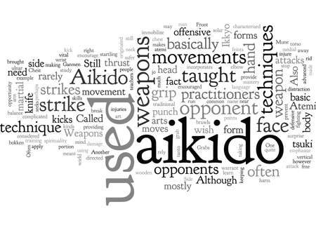 aikido, typography text art vector illustration Vectores