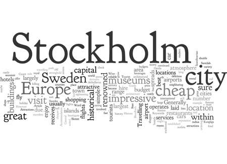 A Tourist Guide To Stockholm, typography text art vector illustration