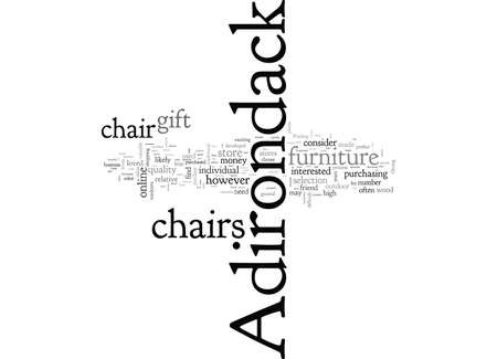 Adirondack Chairs, typography text art vector illustration