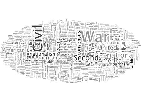 Civil War, typography text art vector illustration