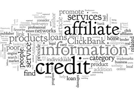 Affiliate Opportunity The Bad Credit Market, typography text art vector illustration