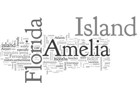 Amelia Island, typography text art vector illustration