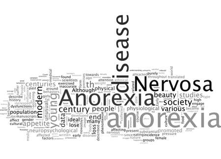 Anorexia A Disease, typography text art vector illustration