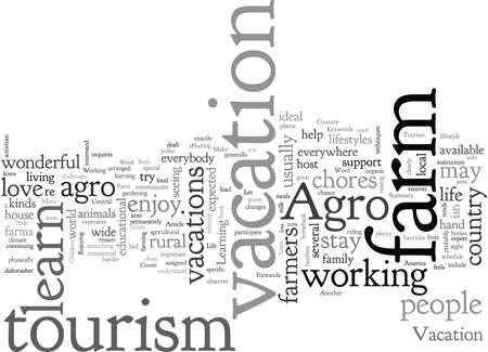 Tourism, typography text art vector illustration